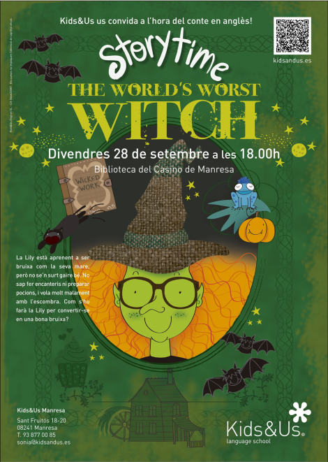 "Story Time: ""The world's worst witch"" a càrrec de Kids & us, school of english"