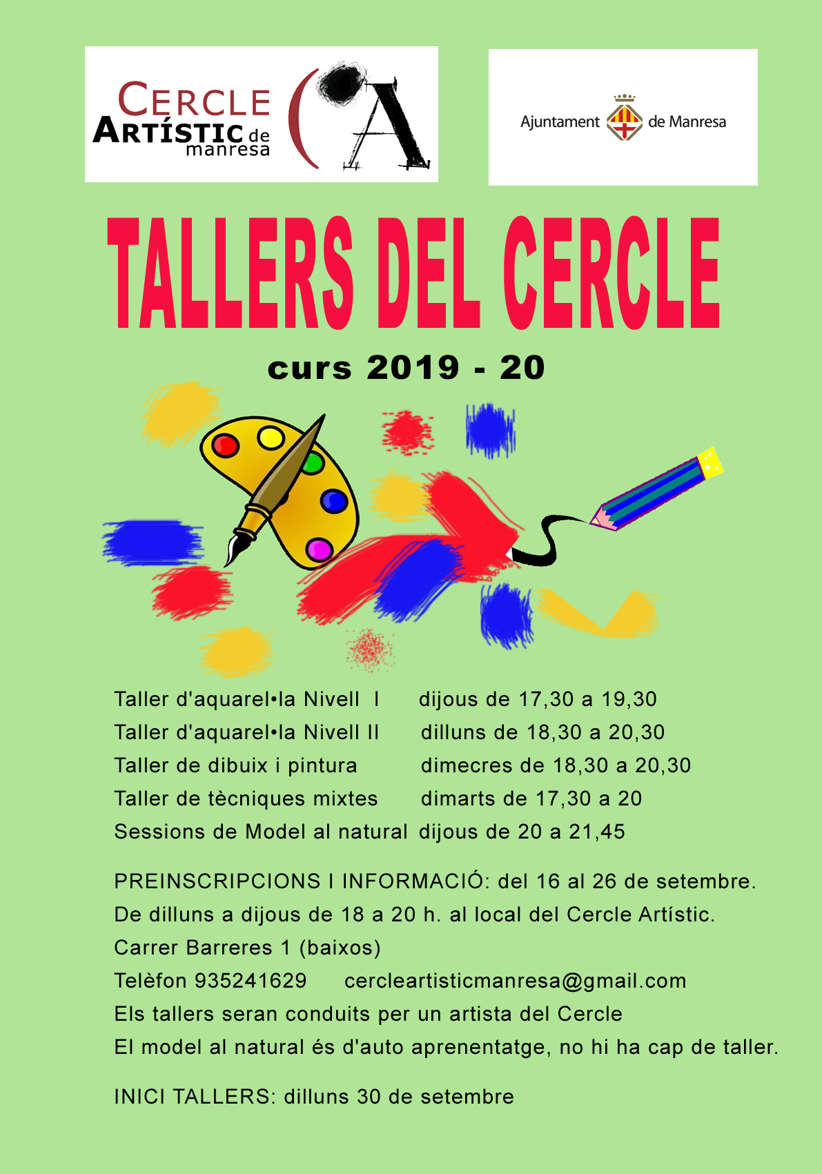 TALLERS DEL CERCLE (2019/20)